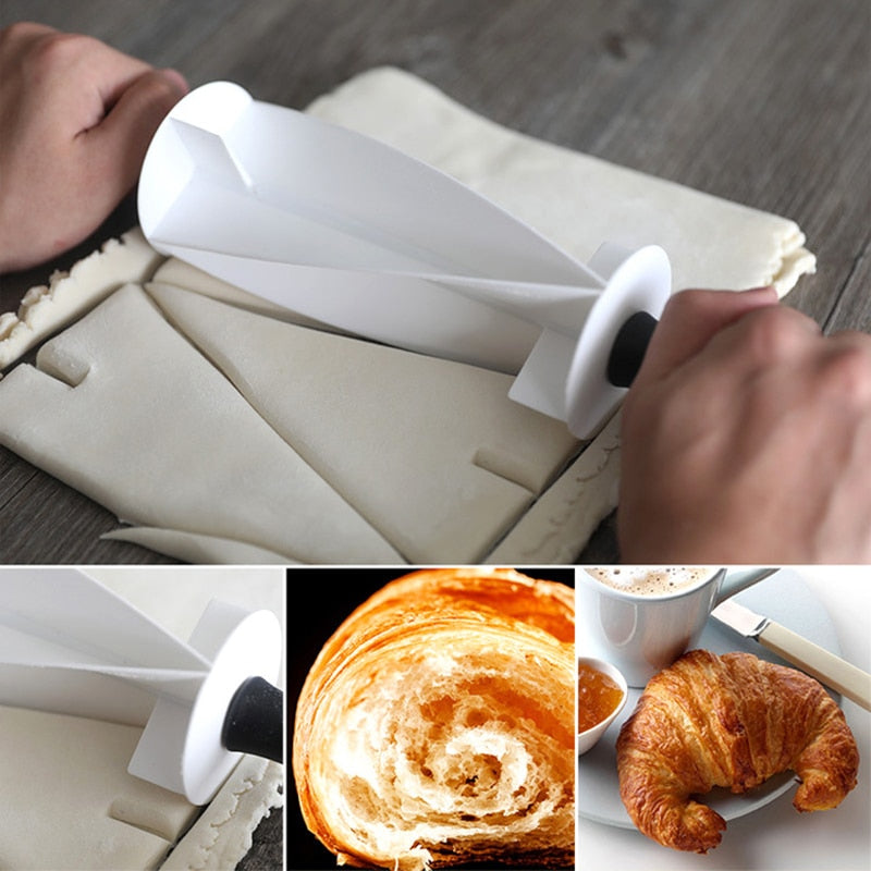 Rolling Cutter for Making Croissant Bread Wheel Dough Cookie Pastry Knife Cutter Bakeware