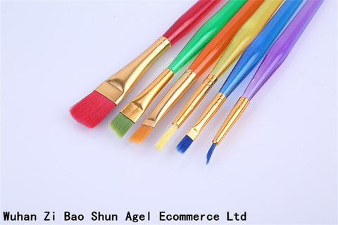 BornIsKing 6pcs Colorful Fondant Cake Brush Decorating Painting Tool Promotion Icing Set Dusting