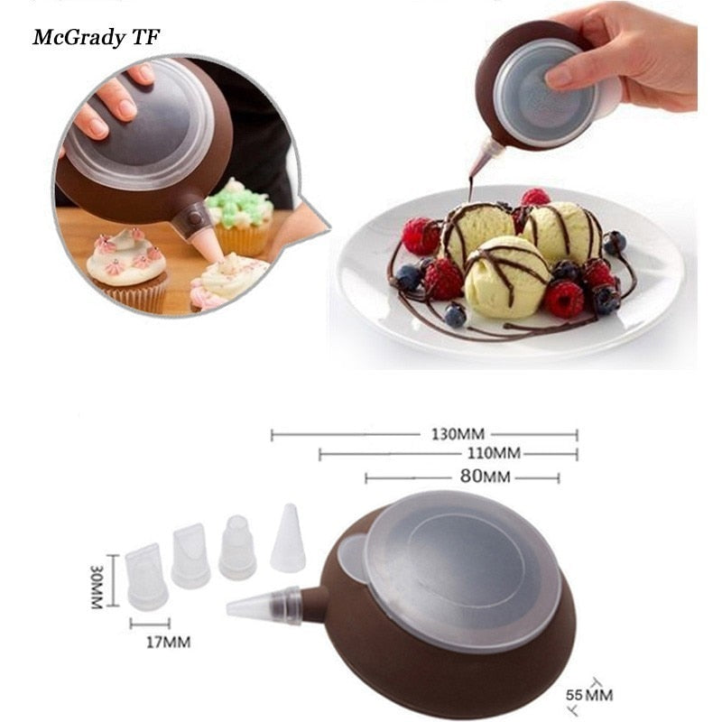 Butter Squeezer Baking Tool Mould Silicone Macaron Pot Baking Nozzles Kit Silicone Mat For Oven