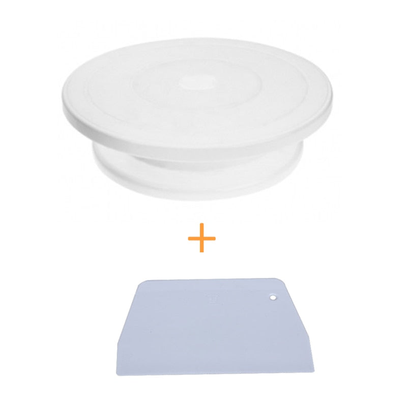 Buy Cake Turntable Get Scraper Free Cake Decorating Tool Rotating Revolving Turntable Round