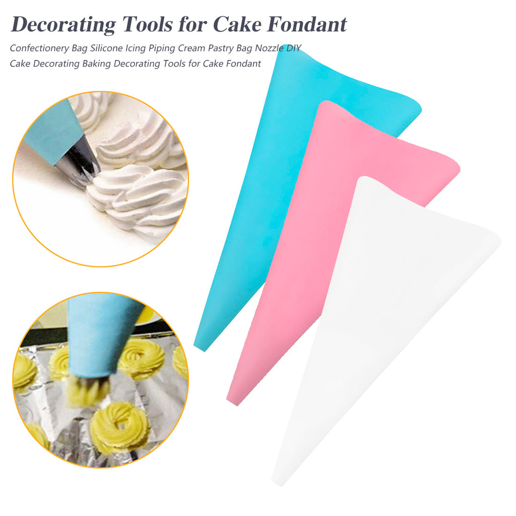 Cake Cupcake Decorating Tools 4 Sizes Piping Bag Pastry Bag Icing Piping Bags Cake Tools Silicone