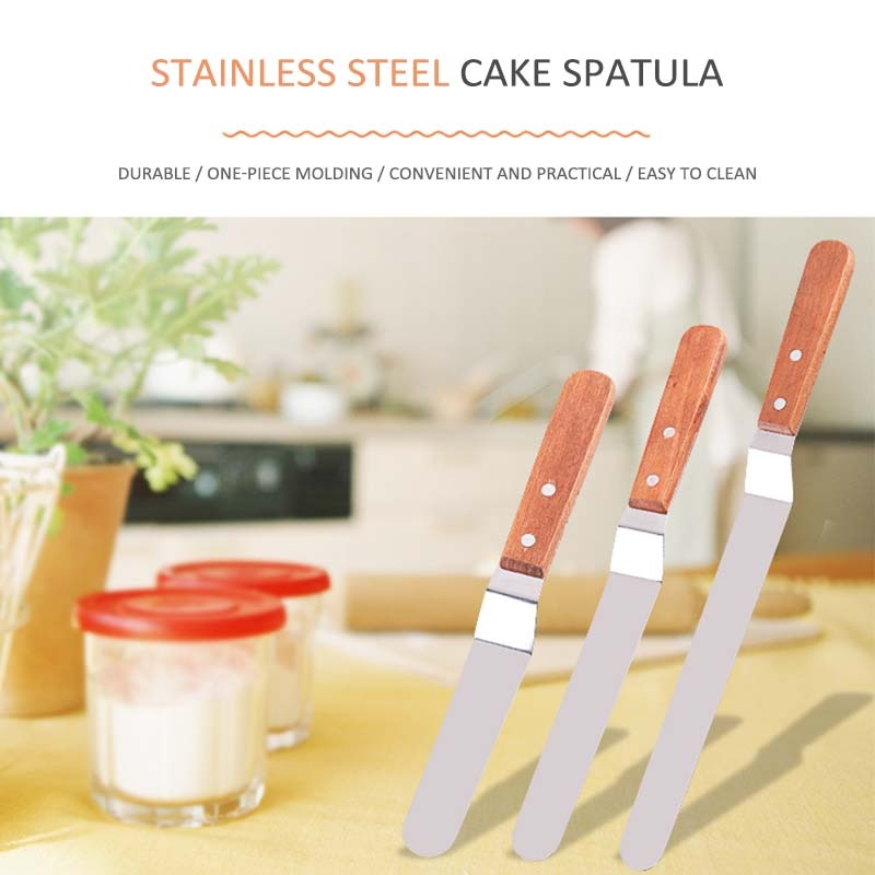 Cake Decorating Tools Stainless Steel  Baking & Pastry Tools Portable Cream Spatula Cake