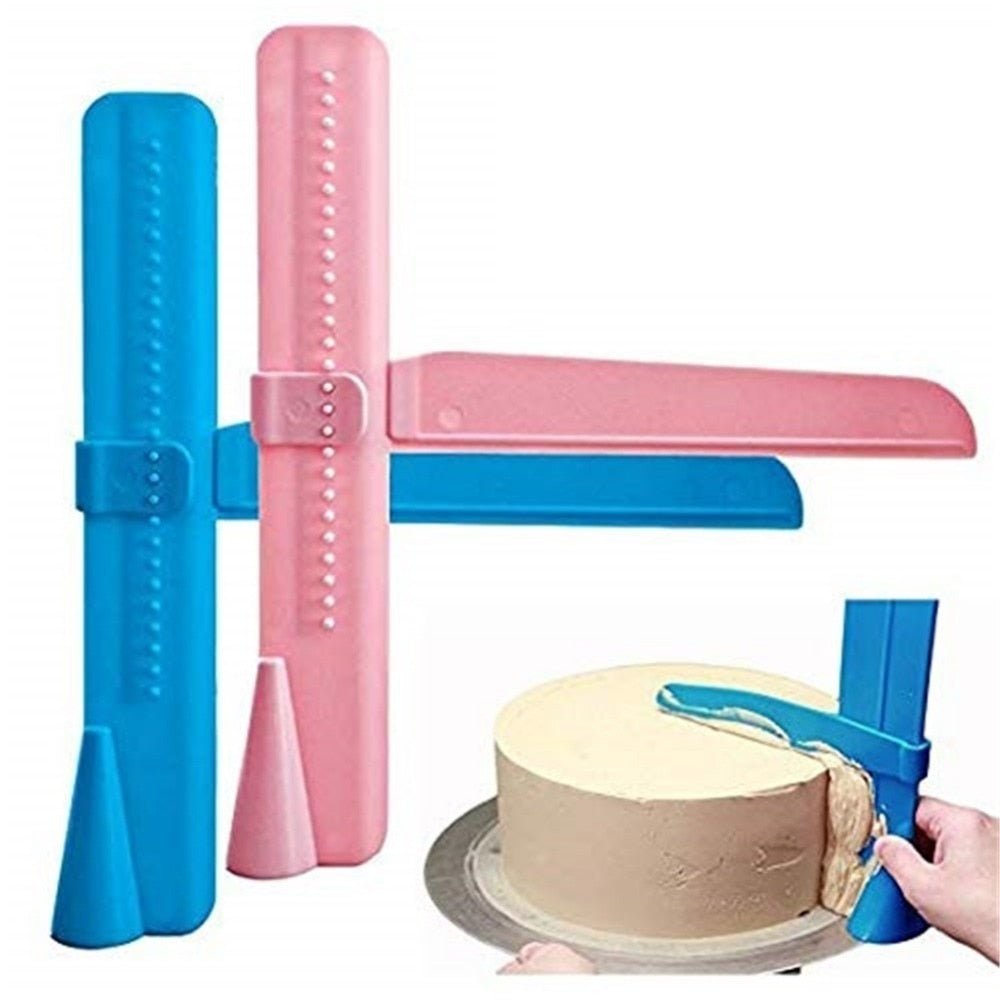 Cake Scraper Smoother Adjustable Fondant Spatulas Cake Edge Smoother Cream Leveling Device DIY