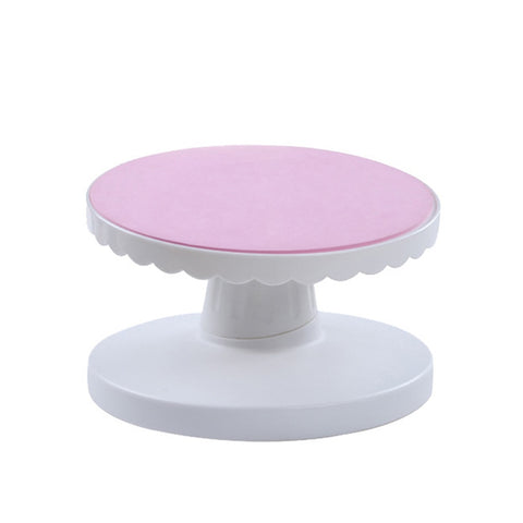 Cake Swivel Plate Yevolving Cake Turntable Decoration Stand Platform Bevel 360 Degree Revolving