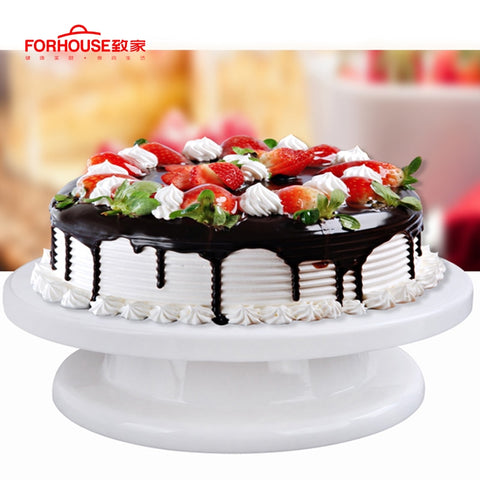 Cake Turntable Rotating Cake Decorating Swivel Plate Cake Decoration Stand Platform Round Cake