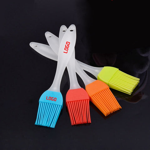 Cake cream barbecue Silicone oil brush plastic handle 17cm small oil brush Cooking Brushes Tool