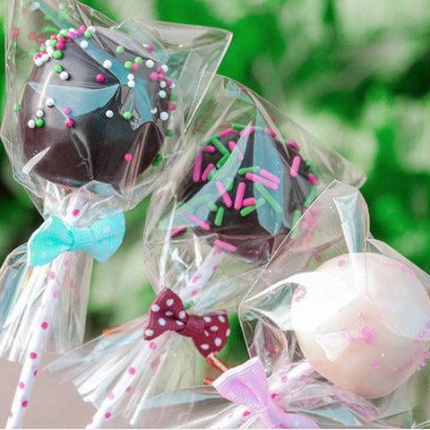 Cake pop Lollipop Chocolate Pop Packing bags 100pcs/pack (7x10cm, 8X12cm, 9x15cm) baking Cookies