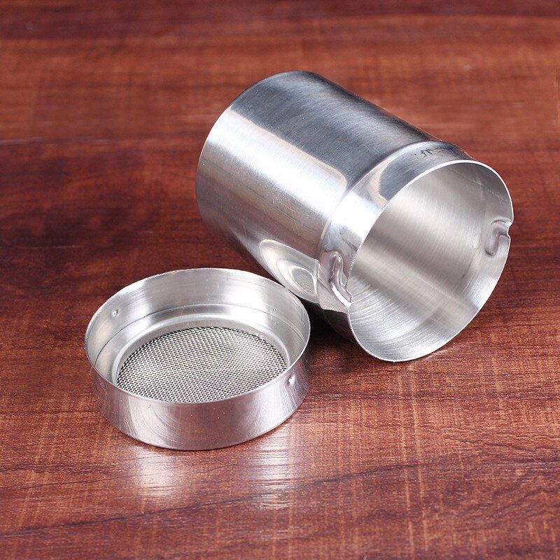 Chocolate Shaker Icing Sugar Powder Flour Powder Cocoa Coffee Sifter Decor Tool New Stainless Steel