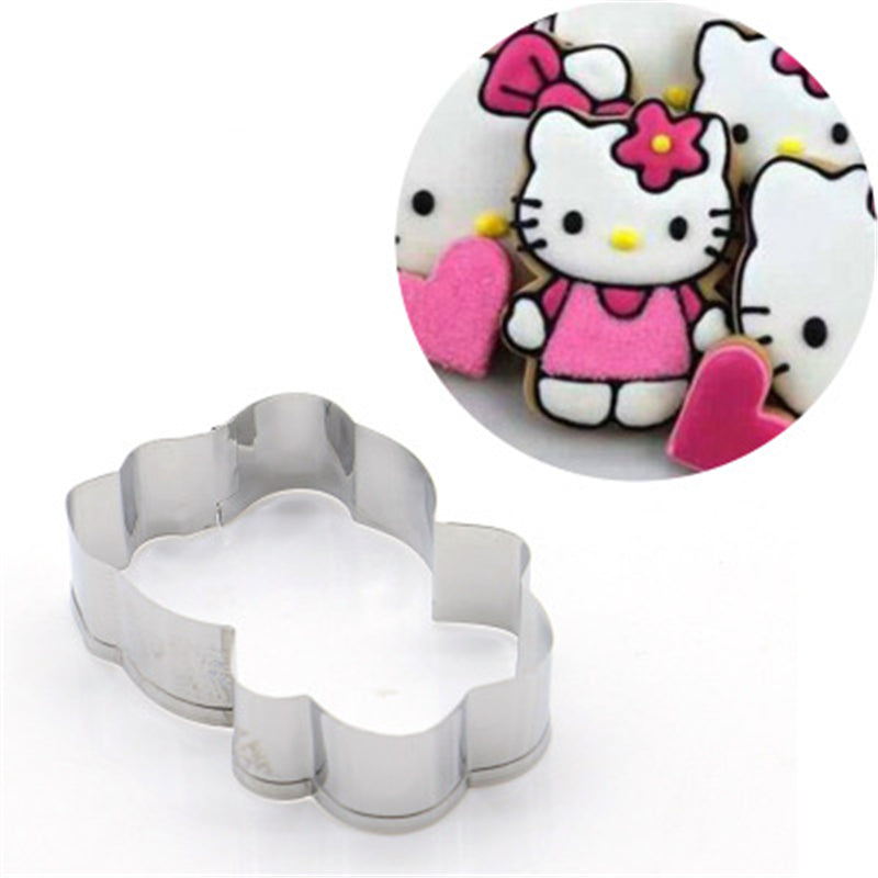 Christmas Cartoon Cat Magic Wand Cookie Cutter Stainless Steel Biscuit Mold Cookie Cookie Stamp