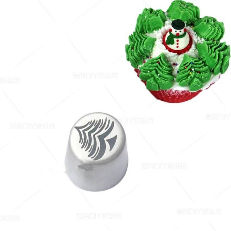 Christmas Tree Russian Nozzle Stainless Steel Piping Tips Pastry Nozzles Wedding Cake Decorating