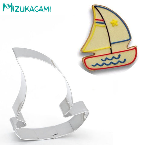 Cookie Cutter Boat Sail Fondant Cake Cutting Biscuit  Mold DIY Kitchen Baking Tool    MS-00441