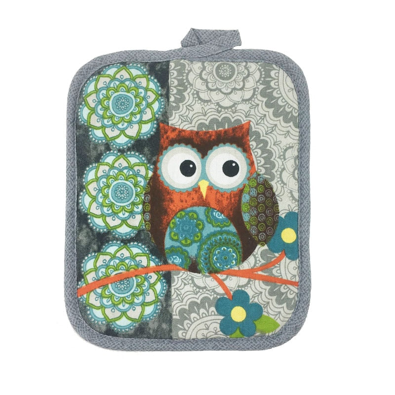 Cotton Owl design Towel Oven glove Mat for Mother's day gift Christmas decorations kitchen