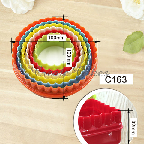 Cupcake Circle Shape Cookie Cutter Set Cupcake Mold Plastic Plastic Mold Cookie Cutter Biscuit Stamp