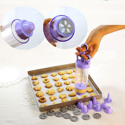 Baking Cookies Press Gun Mold 10 Flower Mold 8 Pastry Tip Presser Squeezers