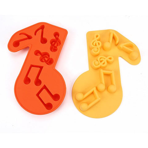 DIY Musical Symbol Chocolate Ice lattice Bakeware Silicone Cake Mold Tool ,Pudding Handmade Soap