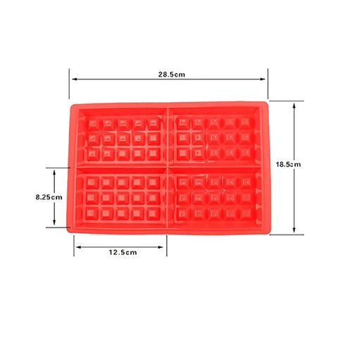DIY Silicone Waffle Maker Mold Muffin Cake Cookie Chocolate Mould 4-Hold Nonstick Bakeware Set