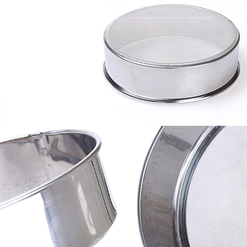 DoreenBeads Stainless Steel Round Shape Manual Flour Sifters and Shakers Sugar Herbal Baking Ice