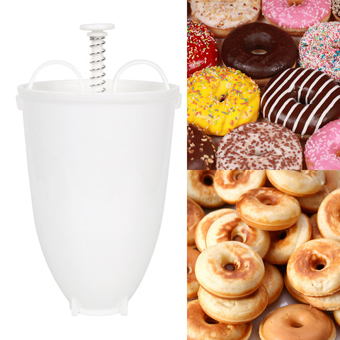 Doughnut Machine Manual Plastic Lightweight Easy Fast Portable Donut Maker Waffle Dispenser Deep Fry