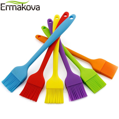 ERMAKOVA Heatproof Silicone Baking Oil Brush Flexible Cake Butter Bread Pastry Brushes Baking BBQ
