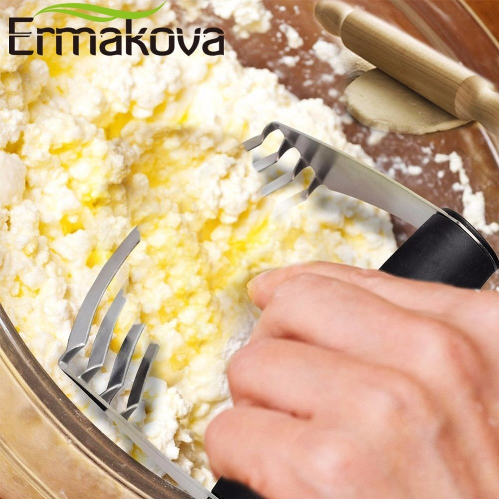 ERMAKOVA Pastry Cutter Mixer Blender Convenient Baking Dough Blender and Cutter with Blades