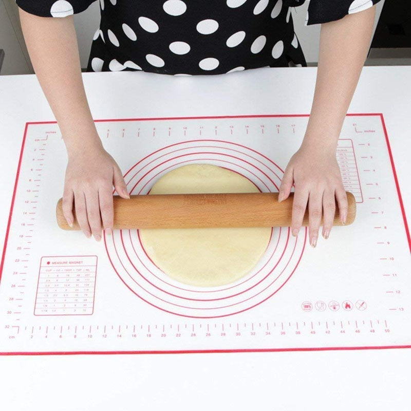 ERMAKOVA Silicone Baking Mat Thick Non-Slip Sheet with Measurements No BPA Toaster Oven Liner
