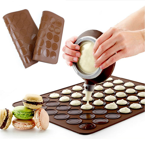 1Pcs High Temperature Resistance Convenient Macaroon Silica Gel Mat Baking