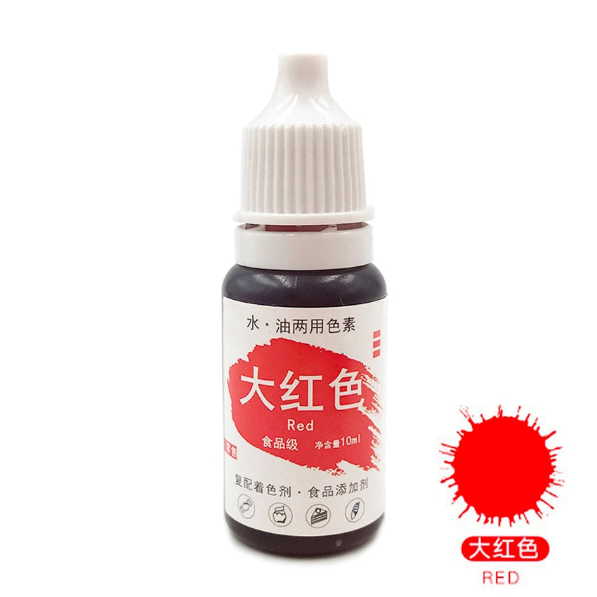 Edible Pigment 10ML Macaron Cream Food Coloring Ingredients Cake Fondant Baking Cake Edible Color
