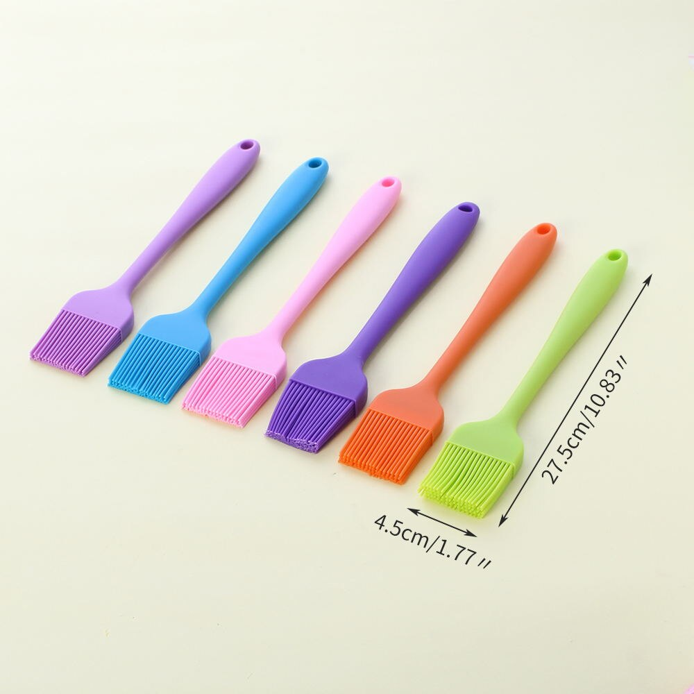 Facemile 1Pcs Silicone BBQ Brush Tool Bread Cookie Oil Cream Cooking Basting Brush Silicon Kitchen