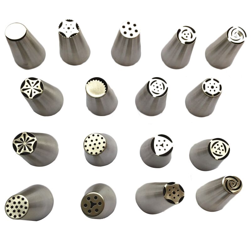 Facemile Many Style Russian Tulip Stainless Steel Icing Piping Nozzles Pastry Decorating Tip Fondant
