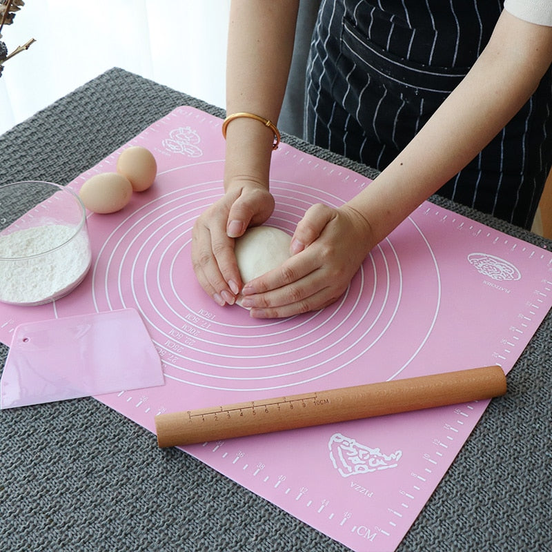 Flour pad Non-stick Baking Sheet Silicone Roll Cut Mat Rolling Pastry Pizza Dough Cutting mat