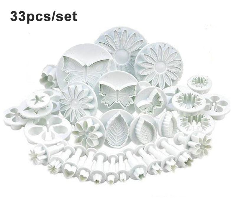 Fondant Cake Mold Set Flower Cake Decorating Tools Kitchen Baking Molding Kit Sugarcraft Making
