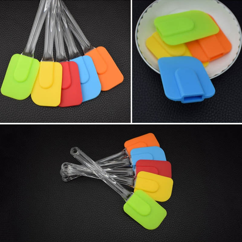 Food Grade Kitchen Gadgets Cooking Baking Tools Pastry Scraper Non-stick Silicone Butter Cream