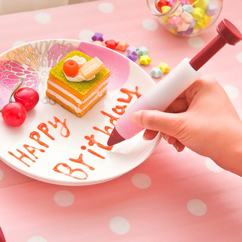 Food Writing Silicone Pen Chocolate Mold Cream cup cookie Icing Piping Pastry Nozzles Cake