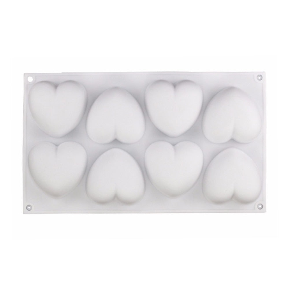 GT Silicone Heart love Cake Mold Silicone Mousse Cake Mould 8 Holes Heart Molds Cakes Mousse