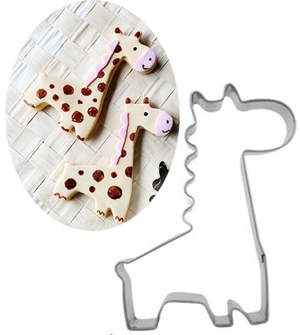 Giraffe Shape Biscuit Mold Bakeware Fondant Cake Mold DIY Sugar craft 3D Pastry Cookie Cutters