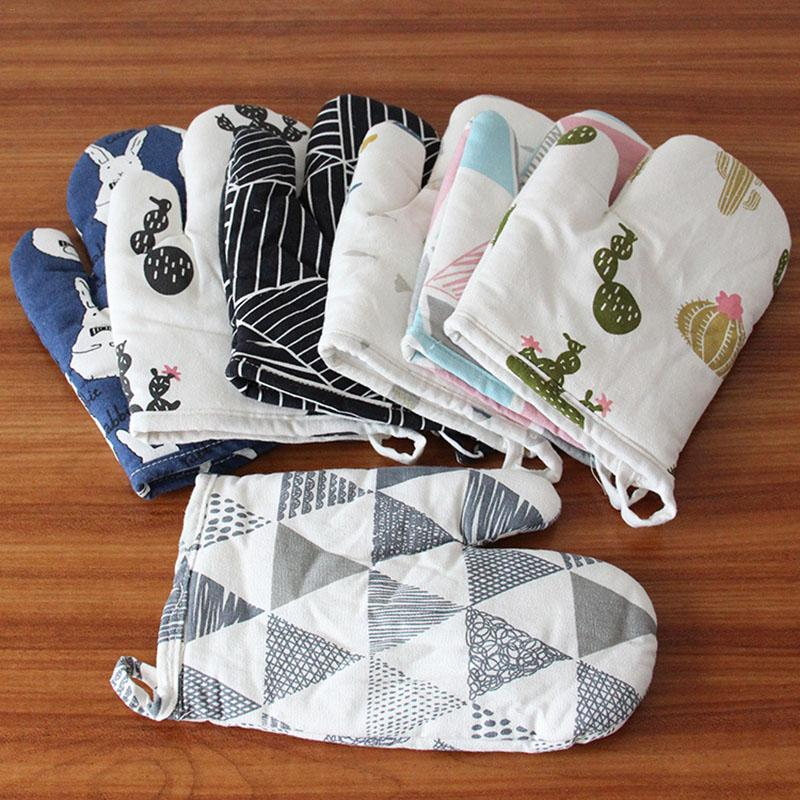 Glove Large Thickened Cotton And Linen Kitchen Supplies Wholesale Multi Colors Heat Resistant Baking