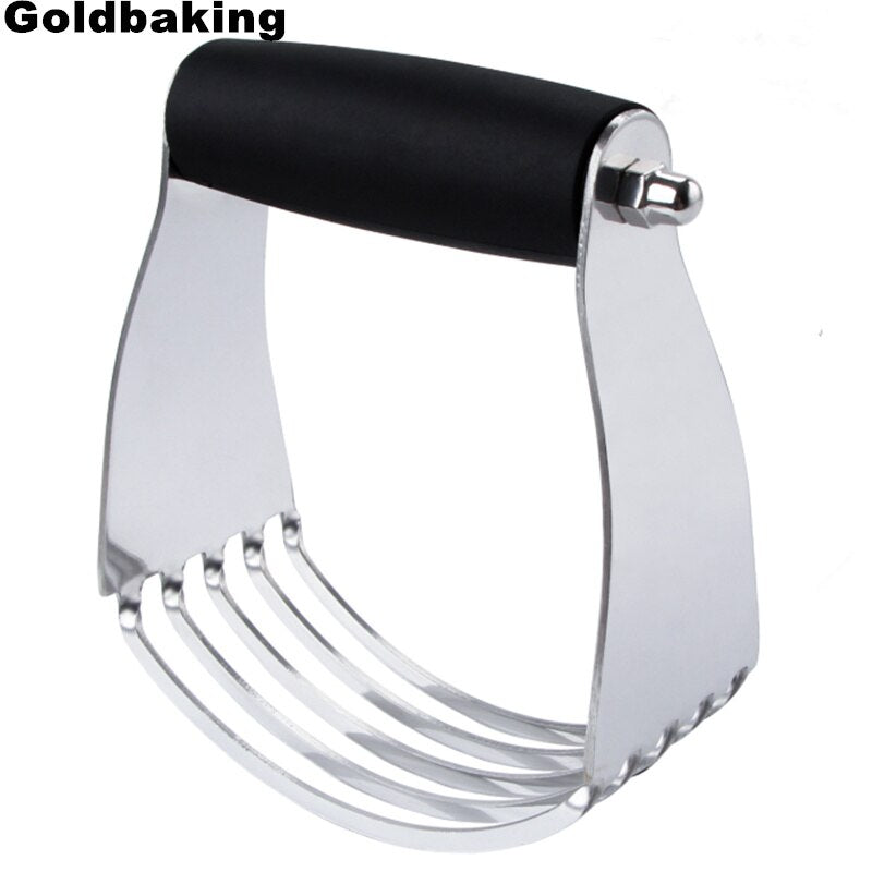 Goldbaking Dough Blender Top Professional Pastry Cutter with Heavy Duty Stainless Steel Blades