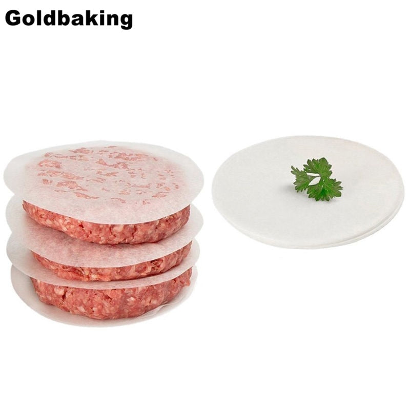 Goldbaking Round Parchment Paper Liners Safe For Oven and Electronic BBQ Grill Wax Paper Hamburger