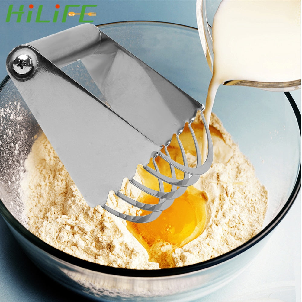 HILIFE Baking Tools Flour Mixer Kitchen Accessories Stainless Steel Baking Pastry Blades Manual