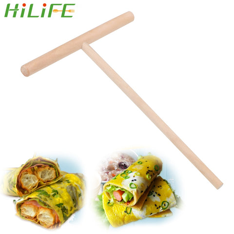 HILIFE Pancake Batter Spreader Stick Pancake Tool Wooden Home Kitchen Tools Chinese Specialty
