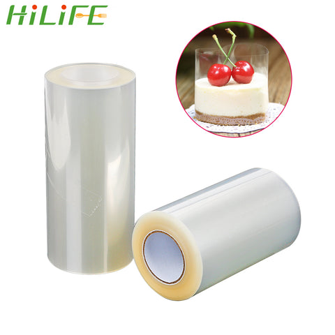 HILIFE Transparent Clear Mousse Surrounding Edge Wrapping Tape DIY Cake Decorating Tools 8cm 10cm