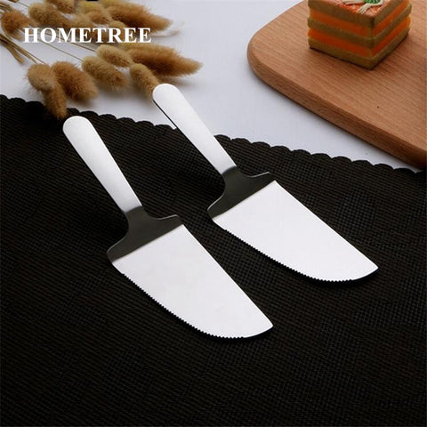 HOMETREE Pizza Stainless Steel Shovel Cutter Cake Spatulas Pie Pastry Butter Knife Kitchen Baking