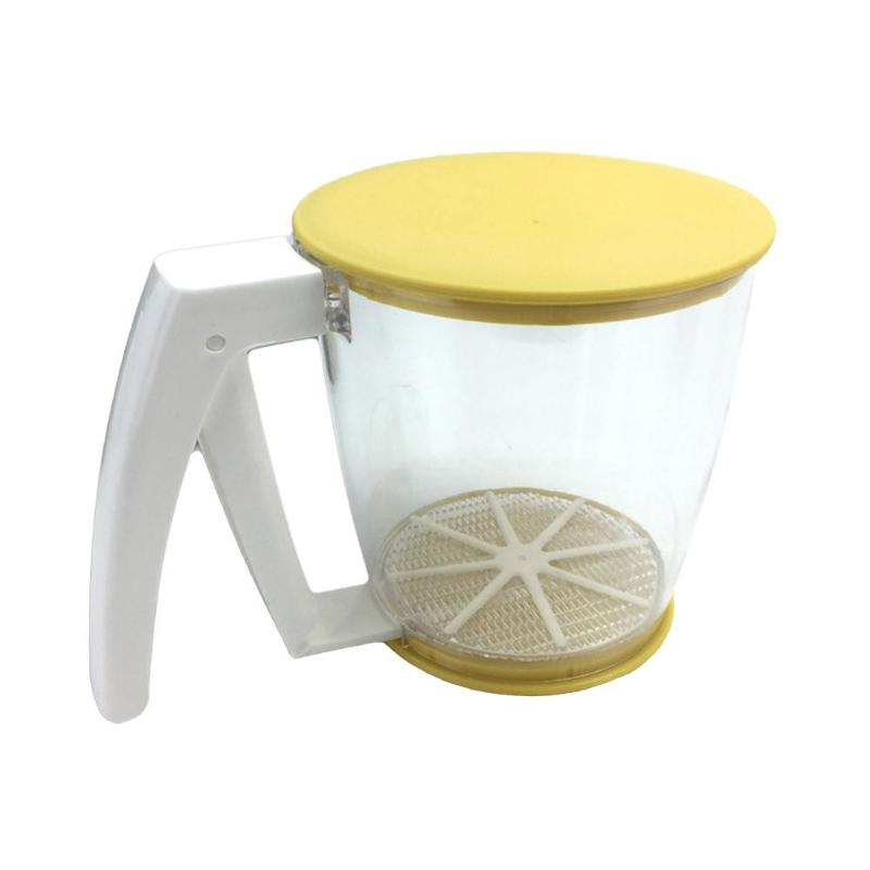Hand-held Flour Sieve Fine Mesh Sugar Filter Manual Strainer Baking Pastry Tools Kitchen Gadget