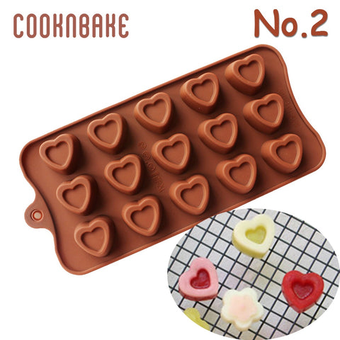 Heart Shape Silicone Molds for Chocolate Gummy Fondant Mold Candy Jelly Pudding Mold