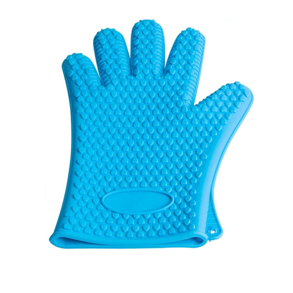 Heat Resistant Glove Silicone Oven Glove Oven Pot Mitt Baking BBQ Cooking Holder Oven Mitts