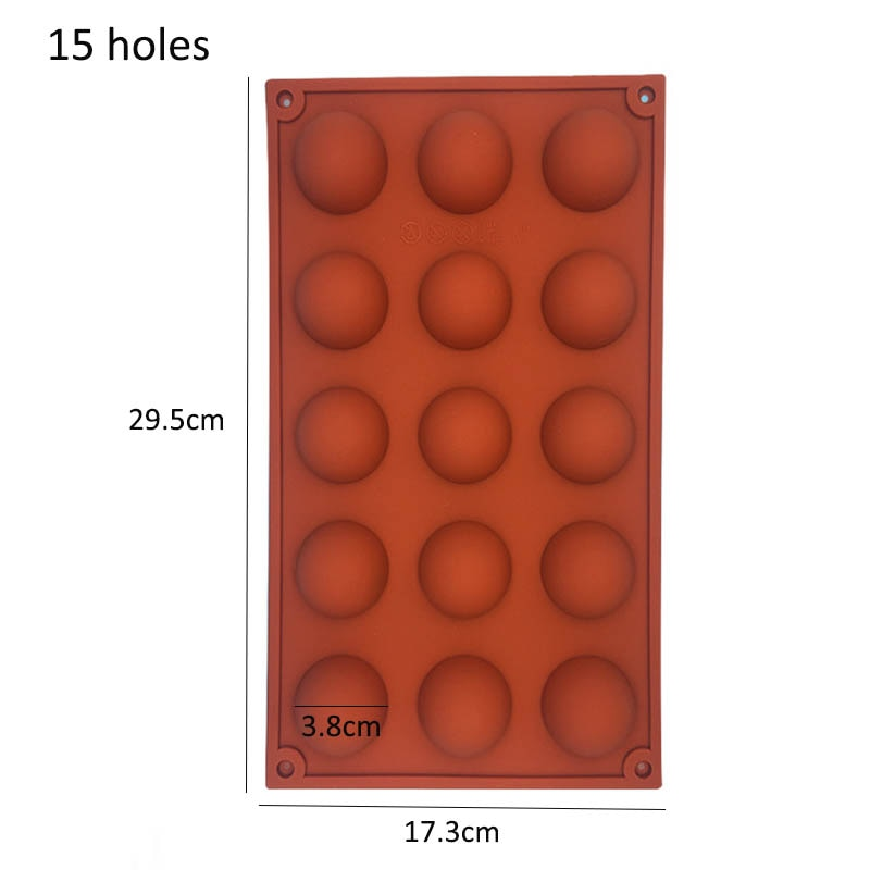 Hemisphere Shape Silicone 6/15/24 Holes Food Grade Baking Accessories Chocolate Candy Mold