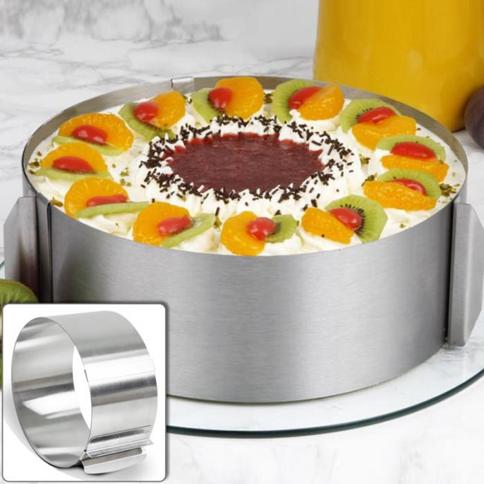 High Quality Retractable Stainless Steel Circle Mousse Ring Baking Tool Set Cake Mould Mold Size