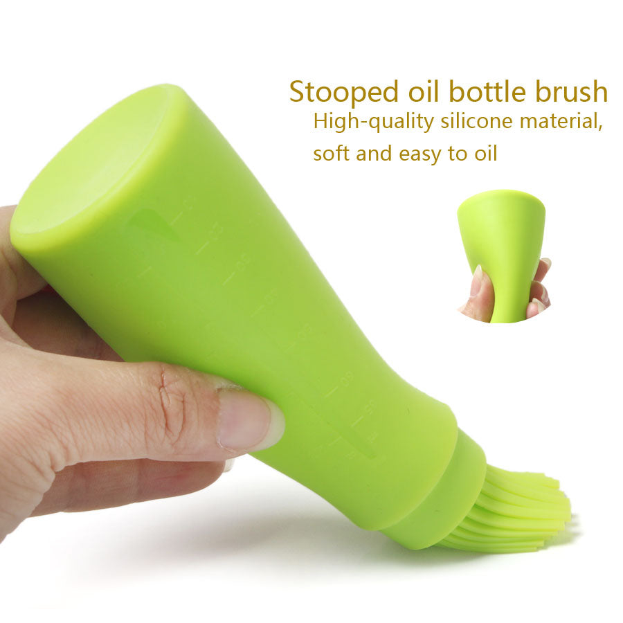 High Temperature Silicone Brush Stooped Liquid Oil Bread Soy Sauce Jar Pastry Brush BBQ Tools