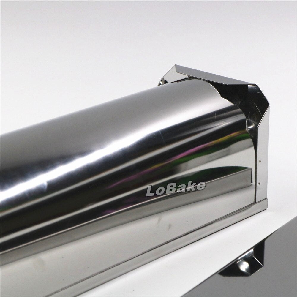 8*7*28.5cm long half round sylinder 304 stainless steel bread mold metal cake mould