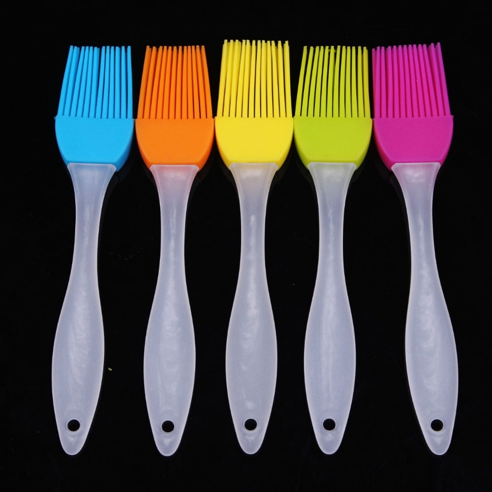 Home Kitchen Tools Flexible Silicone Basting Brush Sweep Grilling Cook Kitchen, Pastry Brushes